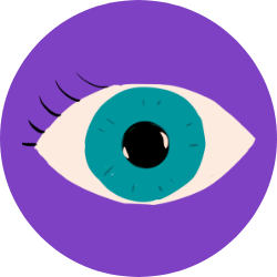 Icon with graphic of an eyeball